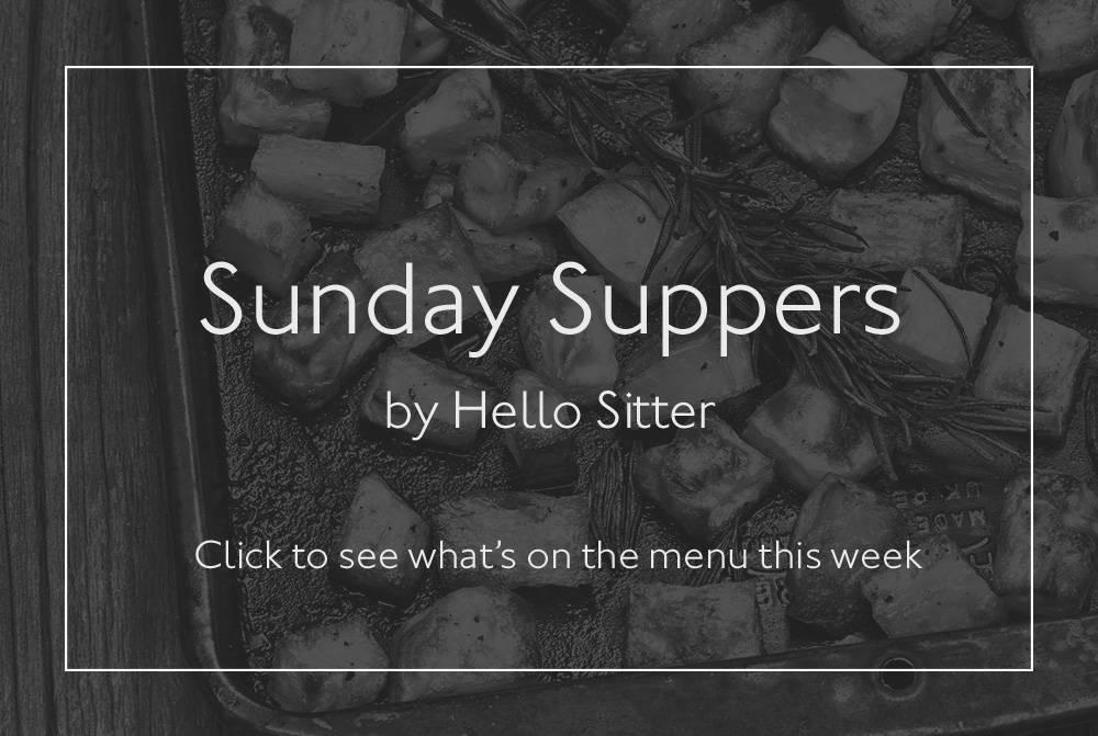 Sunday Suppers Menu