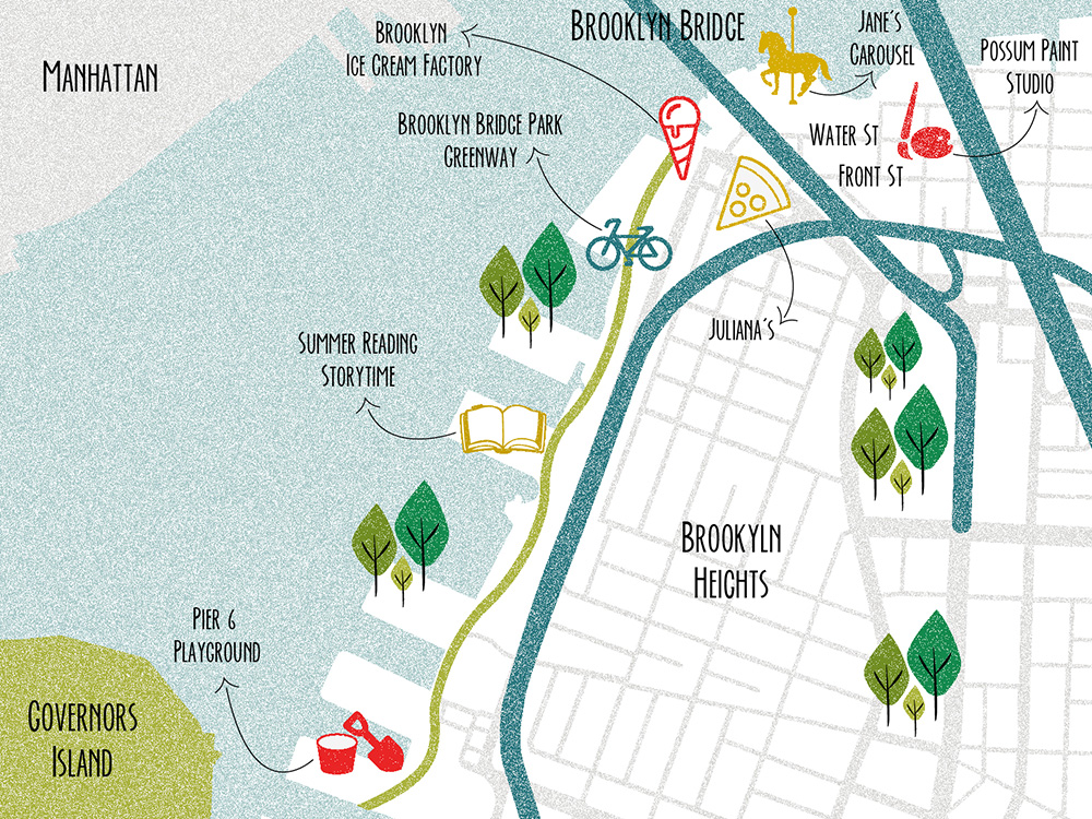 Map of DUMBO and Brooklyn Heights